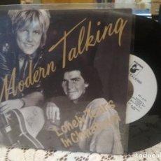 Discos de vinilo: MODERN TALKING LONELY TEARS IN CHINATOWN SINGLE SPAIN 1987 PDELUXE. Lote 186061335