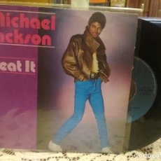 Discos de vinilo: MICHAEL JACKSON BEAT IT SINGLE ITALIA 1983 PDELUXE. Lote 186062368