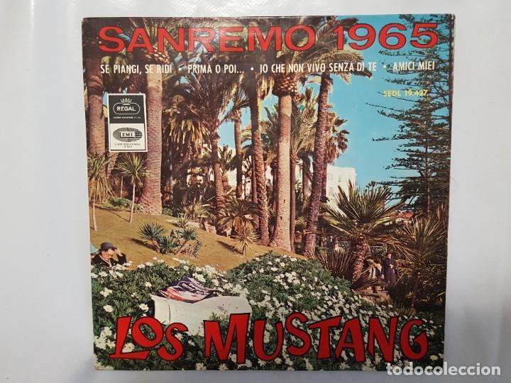 EP / LOS MUSTANG FESTIVAL SANREMO 1965 / YO QUE NO VIVO SIN TI +3 / 1965 (Música - Discos de Vinilo - EPs - Grupos Españoles 50 y 60)