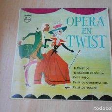 Discos de vinilo: OPERA EN TWIST - TULLIO GALLO Y SU ORQUESTA, EP, IL TWIST DEL BARBIERE + 3, AÑO 1962. Lote 186065980