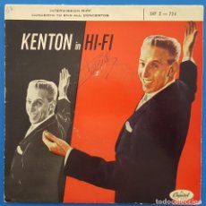 Discos de vinilo: SINGLE / STAN KENTON AND HIS ORCHESTRA / INTERMISSION RIFF - CONCERTO TO END ALL CONCERTOS / 1956. Lote 186082847