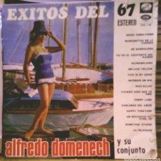 Discos de vinilo: ALFREDO DOMENECH Y SU CONJUNTO - ÉXITOS DEL 67 LP LA VOZ DE SU AMO 1967. Lote 186083778