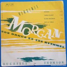 Discos de vinilo: EP / VIRGINIE MORGAN / DOMANI - TANGO BLANC - ALORS RACONTE - SUR LA TABLE / 1957. Lote 186086226
