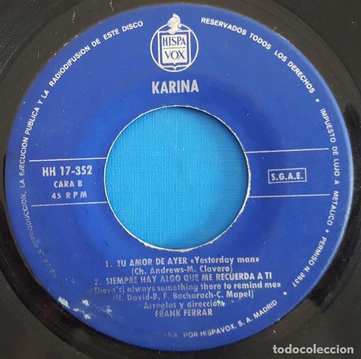 Discos de vinilo: EP / KARINA / CONCIERTO PARA ENAMORADOS +3 / 1966 - Foto 4 - 186090712