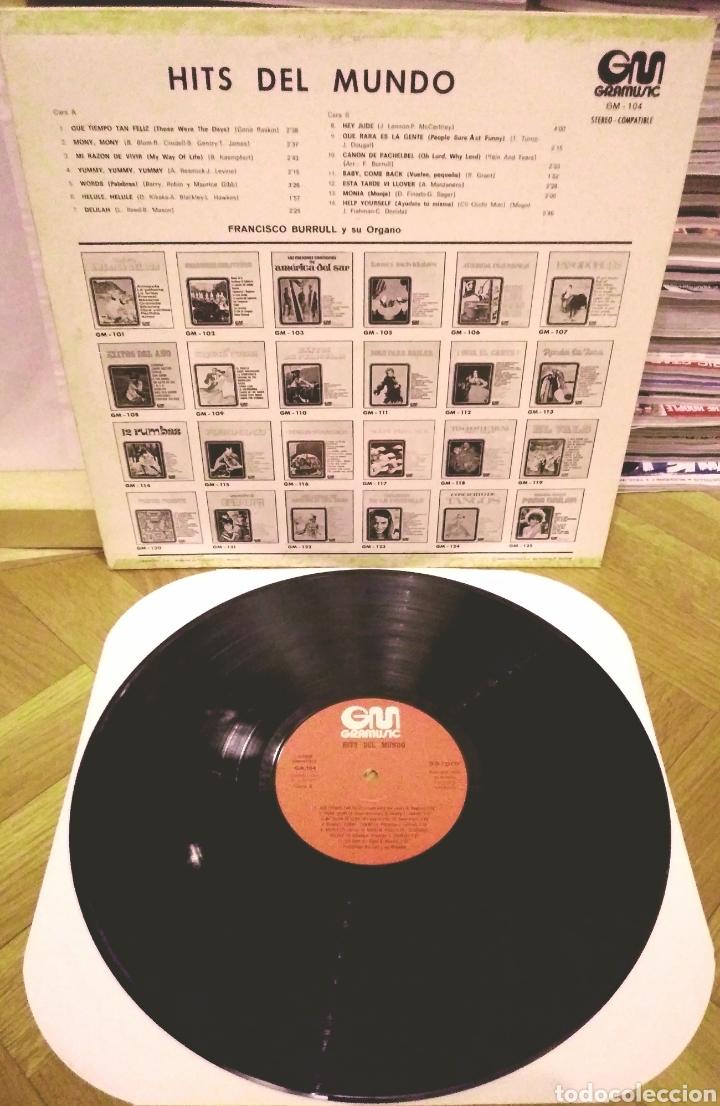 Discos de vinilo: FRANCISCO BURRULL Y SU ORGANO - HITS DEL MUNDO LP Gramusic 1973 - Foto 2 - 186090843