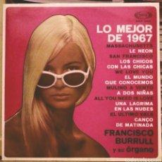 Discos de vinilo: FRANCISCO BURRULL Y SU ÓRGANO - LO MEJOR DE 1967 LP SONOPLAY 1967. Lote 186091252