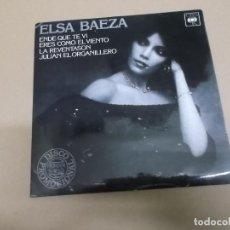 Discos de vinilo: ELSA BAEZA (EP) EN DE QUE TE VI AÑO – 1979 – EDICION SOLO PROMOCIONAL. Lote 186091652