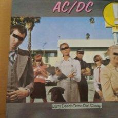 Discos de vinilo: AC/DC DIRTY DEEDS DONE DIRT CHEAP LP 1978. Lote 186093800