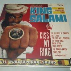 Discos de vinilo: KING SALAMI AND THE CUMBERLAND THREE–KISS MY RING. LP VINILO PRECINTADO. GARAGE. Lote 186095073