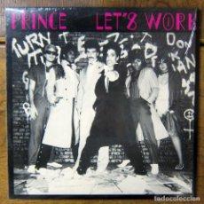Discos de vinilo: PRINCE - LET'S WORK / GOTTA STOP (MESSIN' ABOUT) - 1981 - MAXI SINGLE, EDICIÓN USA. Lote 186099441