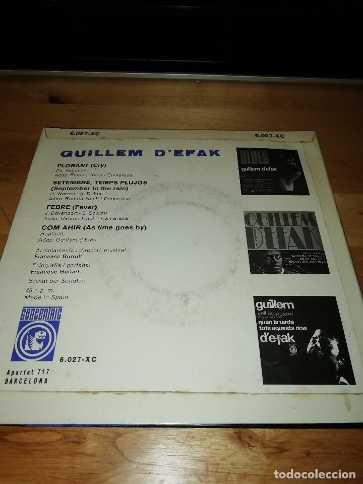 Discos de vinilo: GUILLEM DEFAK - FRANCESC BURRULL - PLORANT (CRY) - FEBRE (FEVER) +2 - CONCÈNTRIC 1965 - Foto 2 - 186100507