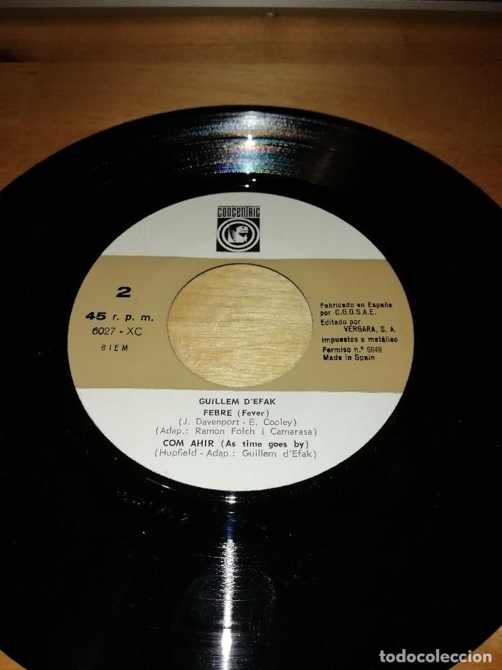 Discos de vinilo: GUILLEM DEFAK - FRANCESC BURRULL - PLORANT (CRY) - FEBRE (FEVER) +2 - CONCÈNTRIC 1965 - Foto 4 - 186100507
