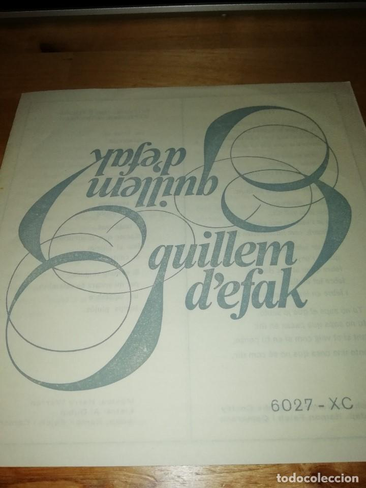 Discos de vinilo: GUILLEM DEFAK - FRANCESC BURRULL - PLORANT (CRY) - FEBRE (FEVER) +2 - CONCÈNTRIC 1965 - Foto 5 - 186100507