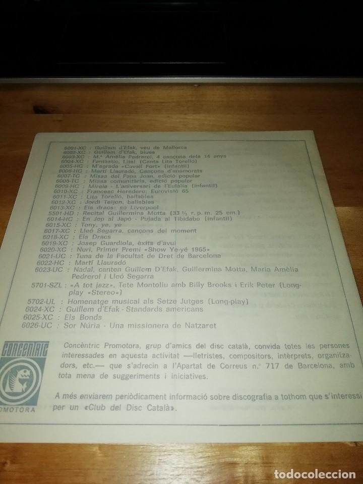 Discos de vinilo: GUILLEM DEFAK - FRANCESC BURRULL - PLORANT (CRY) - FEBRE (FEVER) +2 - CONCÈNTRIC 1965 - Foto 6 - 186100507