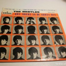 Discos de vinilo: THE BEATLES. A HARD DAY'S NIGHT. IF I FELL. I SHOULD HAVE KNOWN BETTER. I'M HAPPY JUST ODEON 1964 SP. Lote 186110297