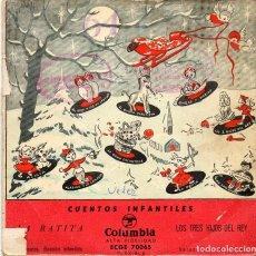 Discos de vinilo: CUENTOS INFANTILES - LA RATITA - SINGLE. Lote 186117718