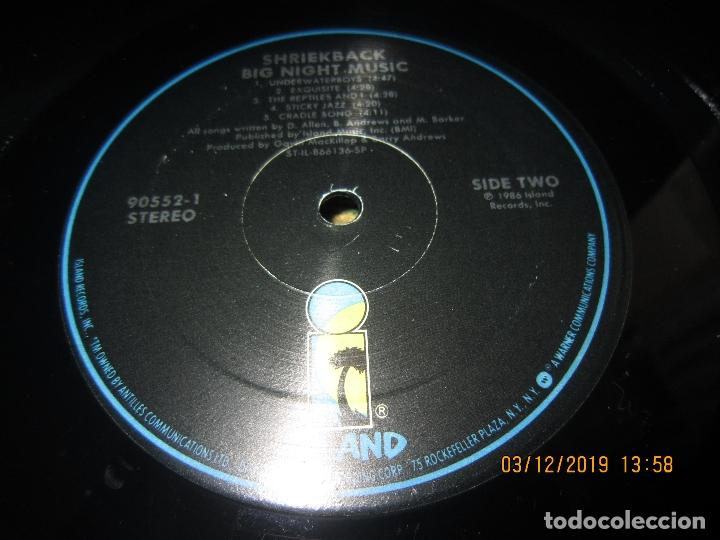 Discos de vinilo: SHRIEKBACK BIG NIGHT MUSIC LP - ORIGINAL U.S.A - ISLAND 1986 MUY NUEVO (5). CON FUNDA INT. ORIGINAL - Foto 17 - 186124690
