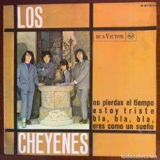 """Discos de vinilo: LOS CHEYENES EP 1966 GARAGE BEAT """"NO PIERDAS EL TIEMPO"""". Lote 186125578"""