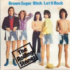 Discos de vinilo: ROLLING STONES - THE BROWN SUGAR - SINGLE . Lote 186142298