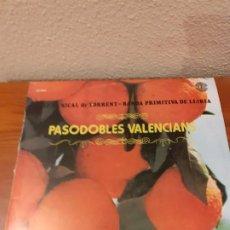 Discos de vinilo: LP PASODOBLES VALENCIANOS 1981 BANDA PRIMITIVA DE LLIRIA. Lote 186145047