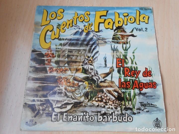 CUENTOS DE FABIOLA - FABIOLA MORA Y ARAGON -, EP, EL REY DE LAS AGUAS + 1, AÑO 1960 (Música - Discos de Vinilo - EPs - Música Infantil)