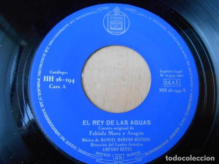 Discos de vinilo: CUENTOS DE FABIOLA - FABIOLA MORA Y ARAGON -, EP, EL REY DE LAS AGUAS + 1, AÑO 1960 - Foto 3 - 186152828