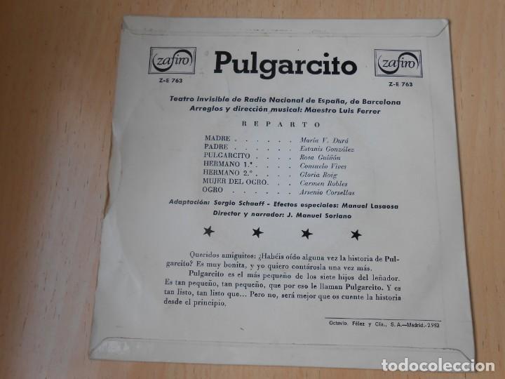 Discos de vinilo: CUENTO - TEATRO INVISIBLE DE RADIO NACIONAL ESPAÑA, DE BARCELONA, EP, PULGARCITO + 1, AÑO 1967 - Foto 3 - 186153207