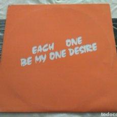 Discos de vinilo: EACH ONE - BE MY ONE DESIRE. Lote 186155001
