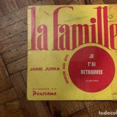 Discos de vinilo: JANIE JURKA – LA FAMILLE SELLO: PANORAMA (4) – N° 26, PANORAMA (4) – PAN 26 FORMATO: VINYL, 7 . Lote 186166626