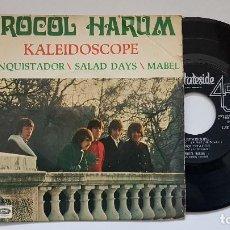 Discos de vinilo: PROCOL HARUM - EP- KALEIDOSCOPE + 3. AÑO 1.968- EDITADO POR EMO-ODEÓN. DISCO MUY RARO. Lote 186171145