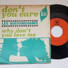 Discos de vinilo: LES BUCKINGHAMS - DON´T YOU CARE. AÑO 1.967. EDITADO POR CBS. DISCO RARO. Lote 186171566