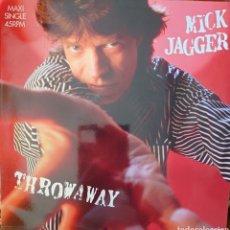 Discos de vinilo: MICK JAGGER MAXI-SINGLE SELLO CBS EDITADO EN ESPAÑA AÑO 1987. Lote 186173301