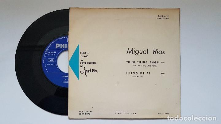 Discos de vinilo: Miguel Rios - Tu si tienes angel - single año 1.965 Editado por Philips. - Foto 2 - 186173470