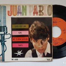 Discos de vinilo: JUAN PABLO - EP .CAPRI C´EST FINI + 3 . AÑO 1.965. EDITADO POR MARFER. Lote 186174418