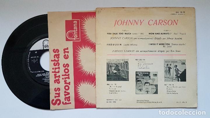 Discos de vinilo: Johnny Carson.Ep. You talk too much+3. año 1.961.Disco muy raro y muy pocas unidades.coleccionistas. - Foto 2 - 186175566