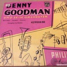Discos de vinilo: BENNY GOODMAN UND SEIN ORCHESTER. BLUE SKIES/STARDUST/CARAVAN/SWINGTIME THE ROCKIES. PHILIPS . Lote 186177693
