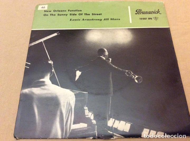 LOUIS ARMSTRONG ALL STARS. NEW ORLEANS FUNCTION - ON THE SUNNY SIDE OF THE STREET . 1959. (Música - Discos de Vinilo - EPs - Jazz, Jazz-Rock, Blues y R&B)