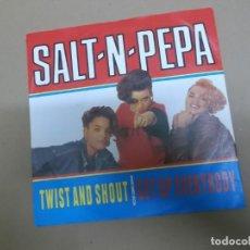 Discos de vinilo: SALT 'N' PEPA (SINGLE) TWIST AND SHOUT AÑO – 1988. Lote 186185440