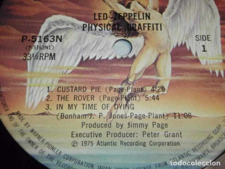 Discos de vinilo: Led Zeppelin - Physical Graffiti 1975-Japon LP Swan Song - Foto 11 - 186185483