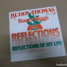 Discos de vinilo: RUDDY THOMAS & BARRY BIGGS (SINGLE) REFLECTIONS OF MY LIFE AÑO – 1982 – EDICION HOLANDA. Lote 186189432
