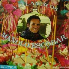 Discos de vinilo: MANOLO ESCOBAR - VILLANCICOS LP SPAIN 1969. Lote 186190762