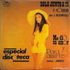 Discos de vinilo: J. RODRIGO SOLO JUNTO A TI MAGNETIC 1976 RAREZA, DIFICIL Y ESCASO. Lote 186199906