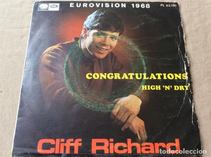 CLIFF RICHARD. EUROVISIÓN 1968. CONGRATULATIONS - HIGH NDRY. EMI 1968. (Música - Discos - Singles Vinilo - Pop - Rock Extranjero de los 50 y 60)