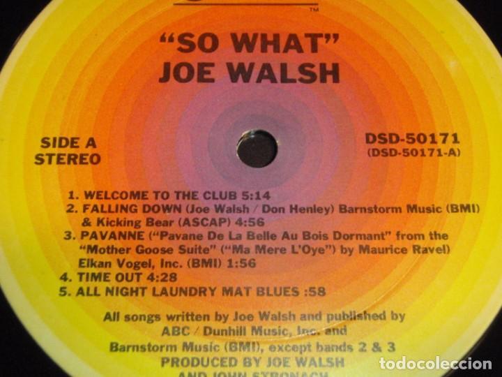 Discos de vinilo: Joe Walsh – So What 1974-USA LP ABC Records - Foto 5 - 186213945