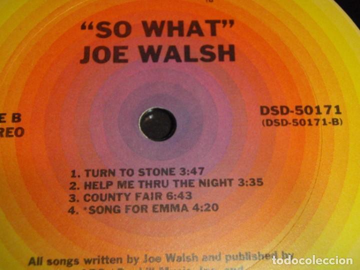 Discos de vinilo: Joe Walsh – So What 1974-USA LP ABC Records - Foto 6 - 186213945