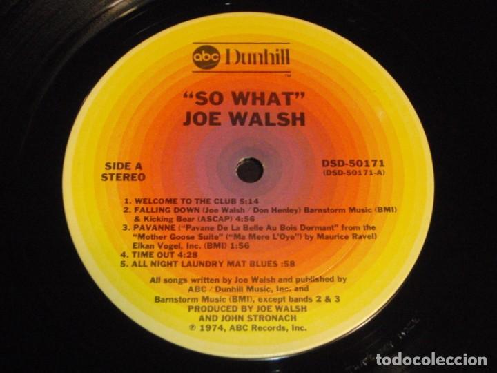 Discos de vinilo: Joe Walsh – So What 1974-USA LP ABC Records - Foto 7 - 186213945