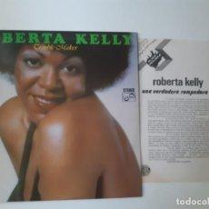 Discos de vinilo: ROBERTA KELLY- TROUBLE MAKER - SPAIN PROMO LP 1977+ HOJA PROMOCIONAL RADIO - IMPECABLE.. Lote 186215248