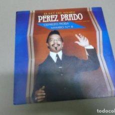 Discos de vinilo: PEREZ PRADO (SINGLE) CEREZO ROSA AÑO – 1981 - PROMOCIONAL. Lote 186218007