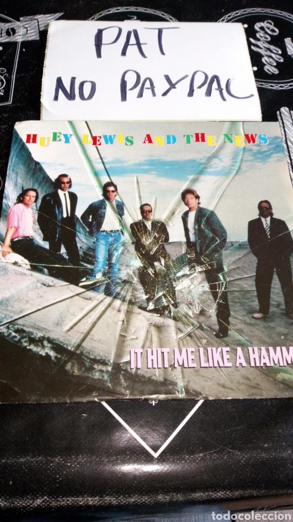 HUEY LEWIS AND THE NEWS IT HIT ME LIKE A HAMMER (Música - Discos - Singles Vinilo - Pop - Rock Extranjero de los 90 a la actualidad)