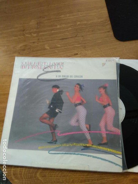 OBJETIVO BIRMANIA EN UN RINCON DEL CORAZON (Música - Discos de Vinilo - Maxi Singles - Grupos Españoles de los 70 y 80)